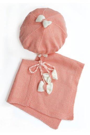 Modèle laine baby poncho et béret