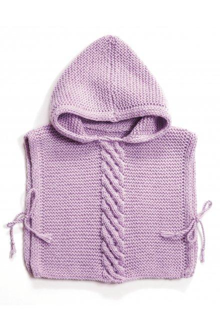 Modèle laine baby poncho