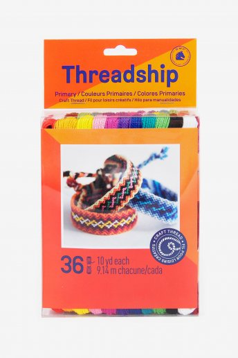 Pack of 36 craft skeins - Primary colors