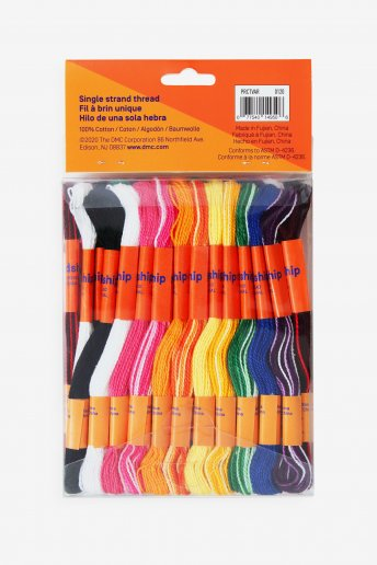 Pack of 36 craft skeins - Variegated colors