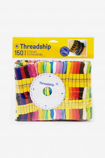 Pack of 150 stranded thread skeins