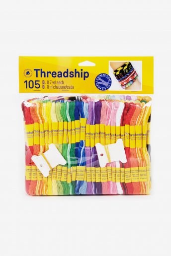 Pack of 105 stranded thread skeins - Assorted colors