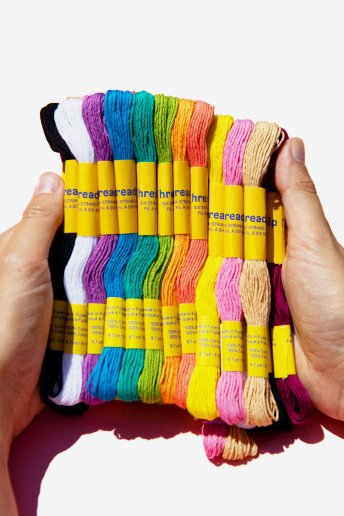Pack of 36 stranded thread skeins - Pastel colors