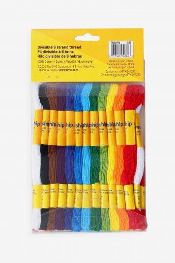 Pack de 36 échevettes multi-brins - couleurs primaires