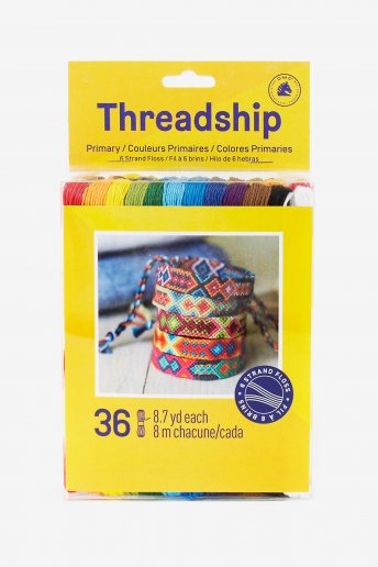 Pack of 36 stranded thread skeins - Primary colors