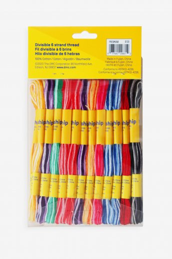 Pack 36 madejas multi - hebras - colores oscuros