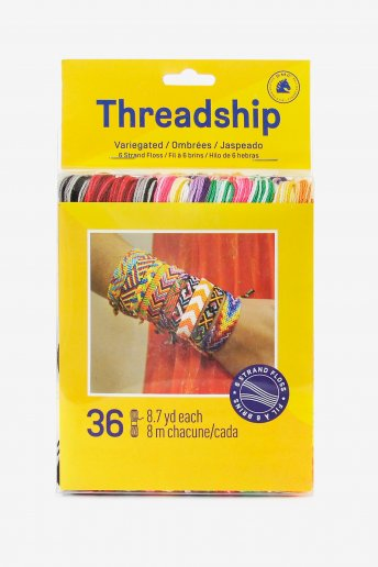 Pack of 36 stranded thread skeins - Variegated colors