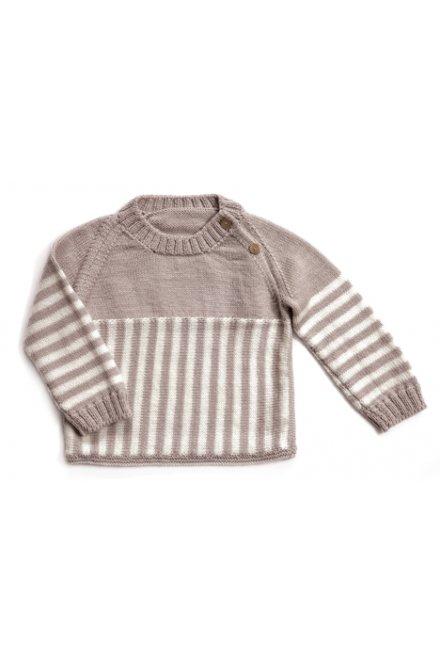 Modèle laine baby pull rayé