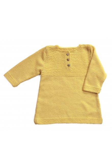 Modèle laine baby petite robe à manches longues