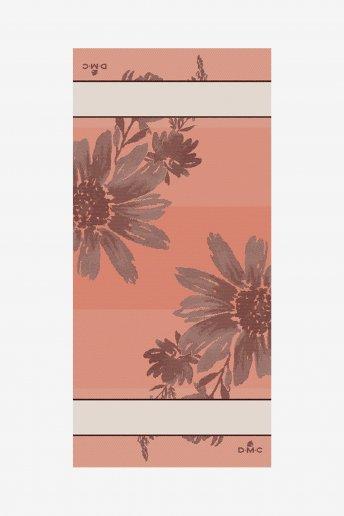 Tischläufer Blütenmuster, bestickbar