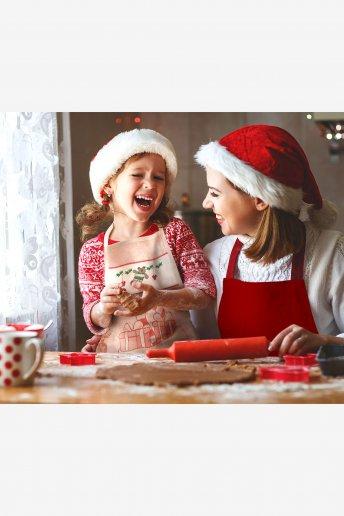 Delantal infantil para bordar tema navidad