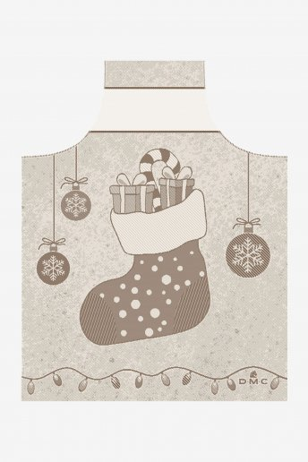 Children's apron to embroider Christmas theme