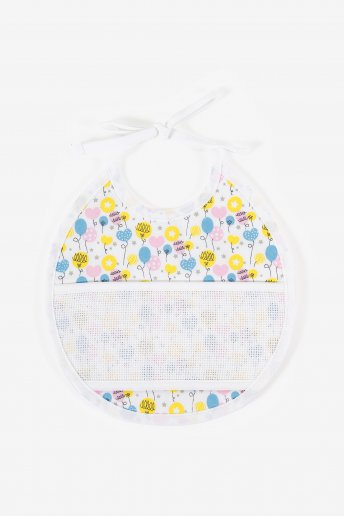 3 months bib to embroider balloons motif
