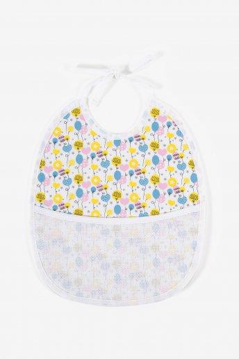 6 months bib to embroider balloons motif