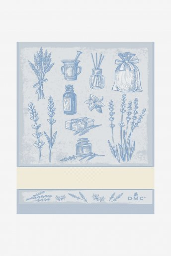 HERBS PATTERN STITCHABLE TOWEL