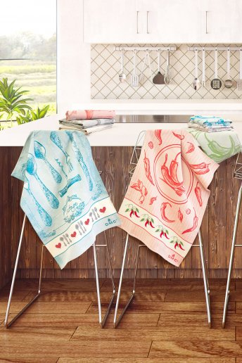 Chilli Pepper Stitchable Kitchen Towel