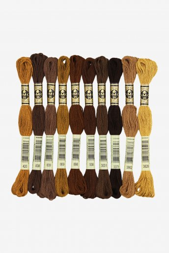 Brown Hair by Stitch People