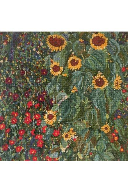 クリムト クロスステッチキット Klimt FARM GARDEN WITH SUNFLOWERS