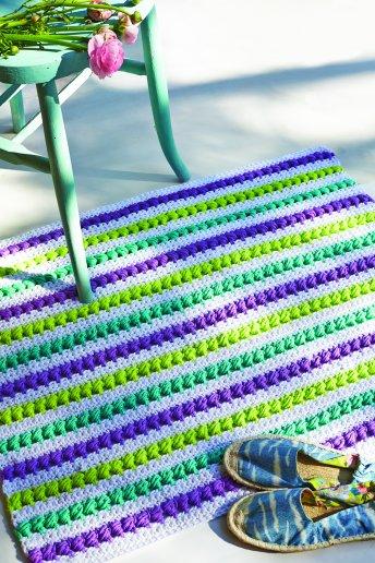 Modello crochet tappeto a righe
