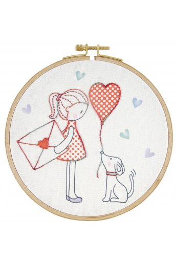 Love letter junior embroidery kit