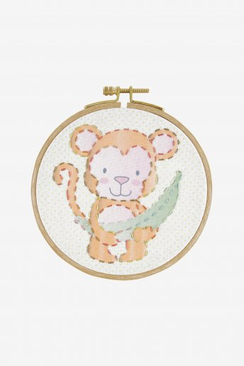 The monkey junior embroidery kit