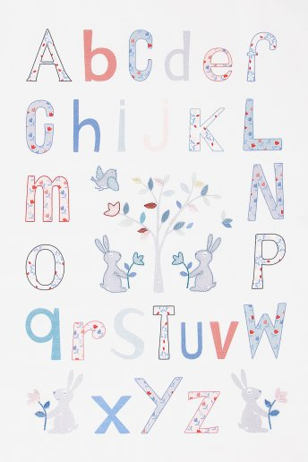 Folk Alphabet Embroidery Kit