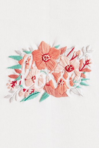Love Flowers Embroidery Kit