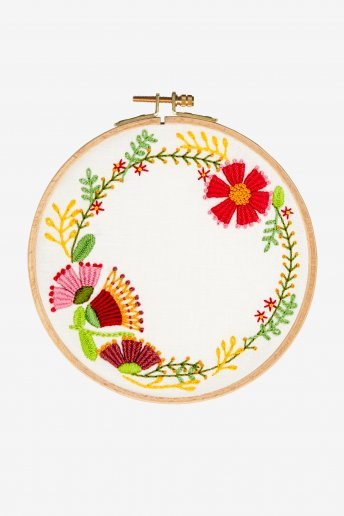 Autumnal Wreath Embroidery Kit