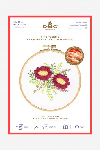 Wild Dahlia Embroidery Kit