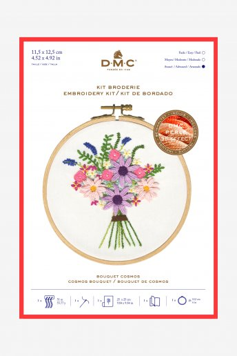 Kit broderie Bouquet Cosmos