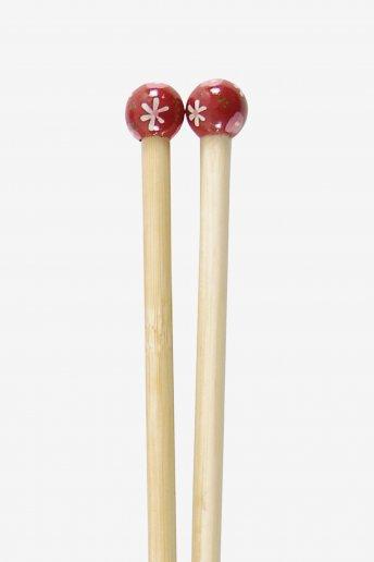 Agulhas de tricô em bambu pintadas à mão art. u1754/10
