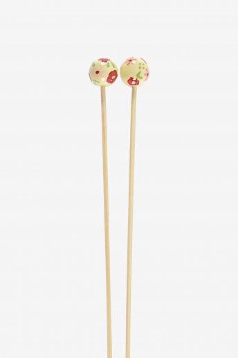 Agulhas de tricô em bambu pintadas à mão art. u1754/25