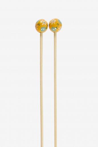 Agulhas de tricô em bambu pintadas à mão art. u1754/3