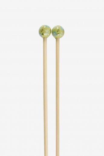 Agulhas de tricô em bambu pintadas à mão art. u1754/45
