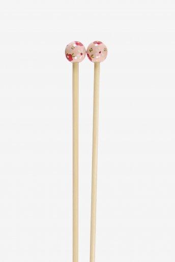 Agulhas de tricô em bambu pintadas à mão art. u1754/4