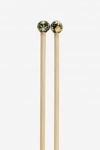Agulhas de tricô em bambu pintadas à mão art. u1754/55