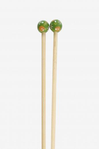 Agulhas de tricô em bambu pintadas à mão art. u1754
