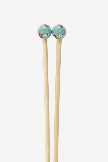 Agulhas de tricô em bambu pintadas à mão art. u1754/7