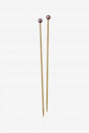 Agulhas de tricô em bambu pintadas à mão art. u1754/8