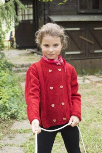 Modèle gilet fille en laine woolly