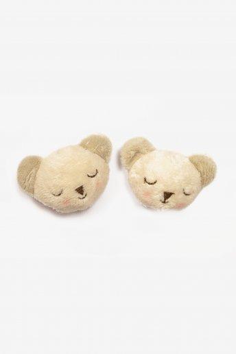 Teddybärkopf – Strickdekoration