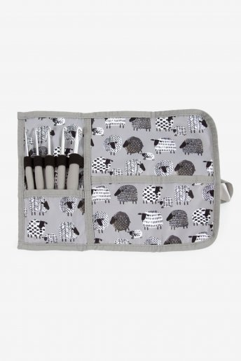 Crochet Holder in grey