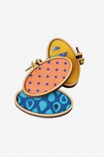 Pendente minibastidor oval horizontal art. u2045a