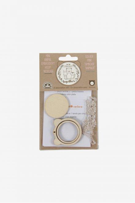 Mini-Stickrahmen Halskette Bär