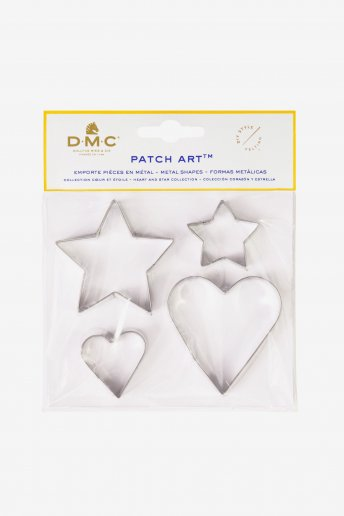 Patch Art: Heart and Star Metal Moulds