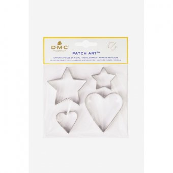 PATCH ART SHAPES: HEART AND STAR