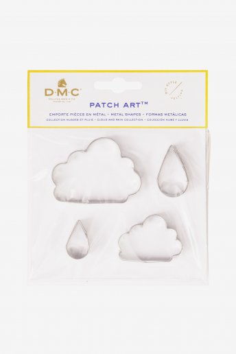 Patch Art: Cloud and Raindrop Metal Mould