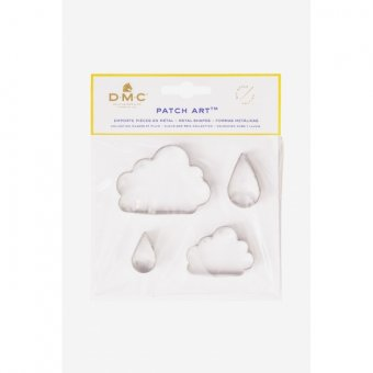 PATCH ART SHAPES: CLOUD AND RAINDROP