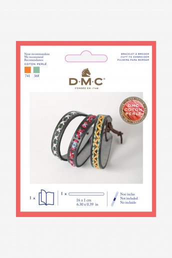 Leatherette Bracelet Embroidery Kit