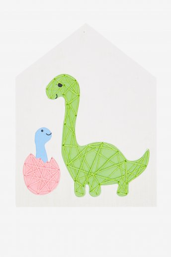 Kit cartão perfurado Mamã e o bebé Dino